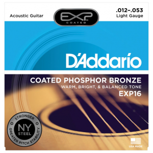 D'Addario EXP16 Coated Phosphor Bronze Light .012