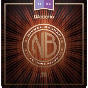 D'Addario NB Nickel Bronze Custom Light 011-052