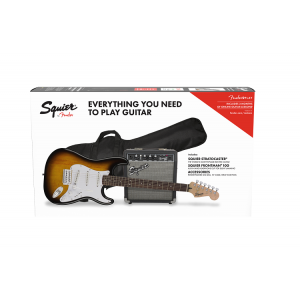 Squier Affinity Strat®  with Fender Frontman® 10G Amp Black