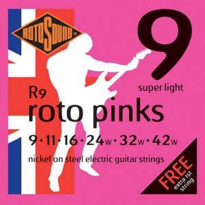 Rotosound R9 Roto Pinks Super Light 9-42