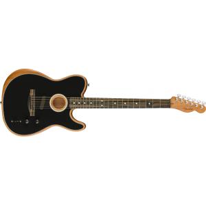 Fender American Acoustic Telecaster Black w. Gigbag