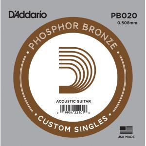 D'Addario phosphor bronze 020