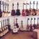 Ny gitarrvägg i butiken